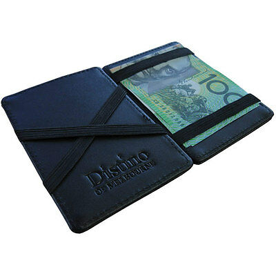Wallet - Mens Magic Flip Wallet by Distino - 100% Genuine Leather - NEW