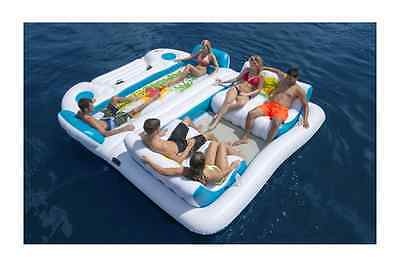 Large Inflatable Raft 6 Person Pool Ocean Lake Float Island Party Tube Lounge