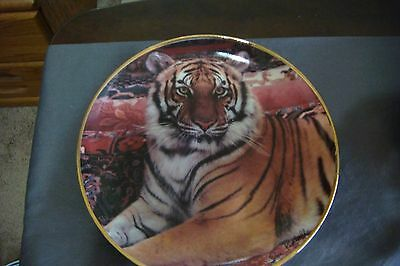 """Franklin Mint Heirloom Collector Plate: """"the Imperial Tiger"""""""