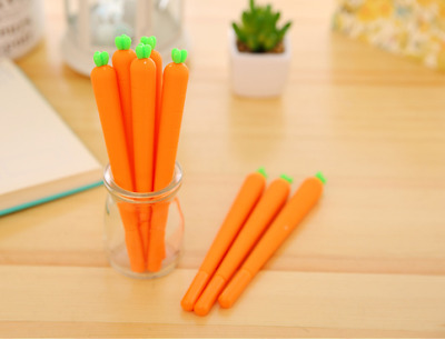 2 x Cute Carrot fine point pen Party Bag Cute Kids novelty stationery Kawaii