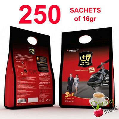250 sachet x 16gr Trung Nguyen G7 Instant Coffee Mix 3 in 1 Vietnamese WHOLESALE