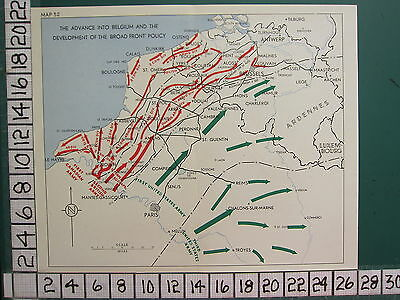 Ww2 Map ~ Advance Into Belgium & Development Broad Front Policy British Candaian