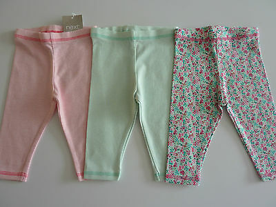 NEXT 3 Really Cute Little Pairs Ditsy Leggings NWT