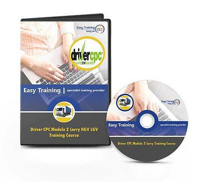 Driver CPC LGV Module 2 (Case Study Tests) Lorry HGV Driver Training CD Course