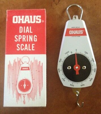 Ohaus 8013-M Dial Spring Mechanical Scale, Cap. 0-1000g Made in the USA
