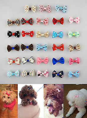 Hot wholesale Pet Dog Cat Print 4-100pcs Hair Bow Hair Clips Grooming Accessorie
