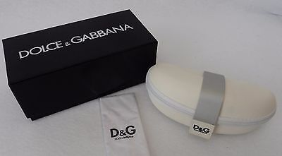 Dolce & Gabbana White Sunglasses Case with Box Lens Cloth