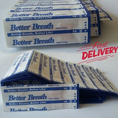 Better Breath Nasal Strips Right Aid to STOP SNORING SM/MED OR LARGE 5 to 500 +