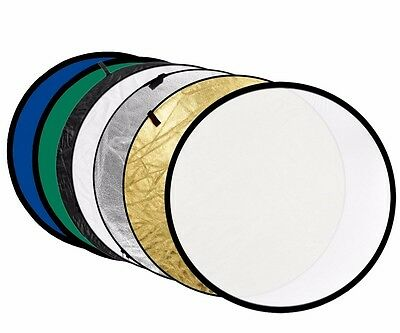 """43""""/110cm 7 in 1 Photography Multi Studio Photo Disc Collapsible Light Reflector"""
