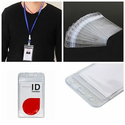 10 Pcs PORTE BADGE PORTE PROTÉGÉ CARTE DE VISITE TOUR DE COU ID CARD HOLDER