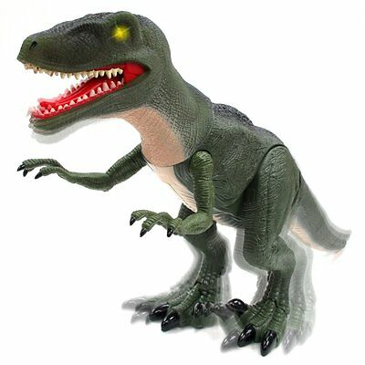 Mighty Megasaur Battery Operated Velociraptor Dinosaur Sounds Lights Realistic