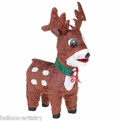 48cm Christmas Cheer Festive Brown Reindeer BASH Pinata Party Game Decoration