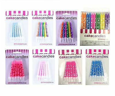 CAKE CANDLES - Range of Colours & Designs for All Occasions {Anniversary House}