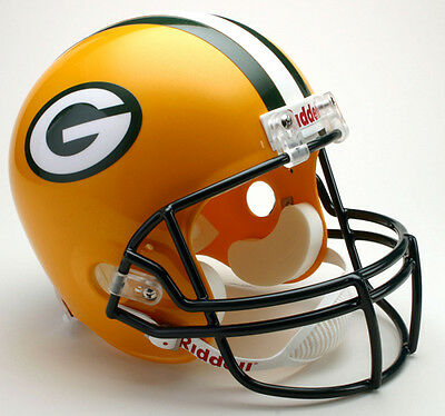 Green Bay Packers Riddell Deluxe Full Size Replica Helm Helm,NFL Football