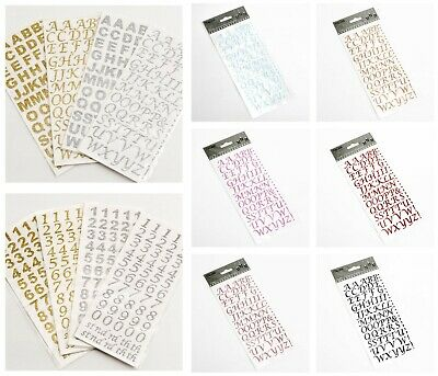 Self Adhesive 15mm Alphabet Number Glitter Diamante Craft Stickers