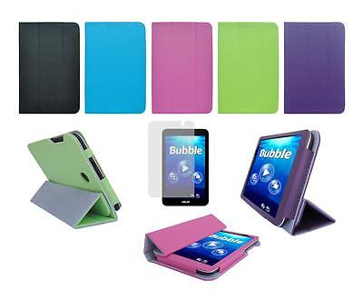 Folio Skin Cover Case and Screen Protector for ASUS Memo Pad 7 ME176CX Tablet