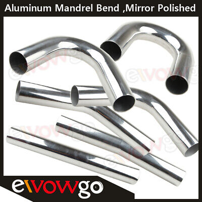 Aluminum Bend Pipe Exhaust Mandrel Degree 15 45 90 135 180 Straight