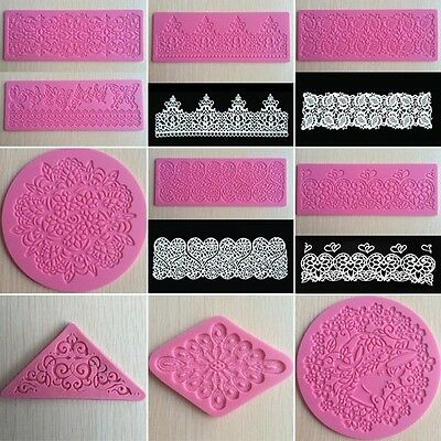 Lace Silicone Mold Mould Sugar Craft Fondant Mat Cake Decorating Baking Tool