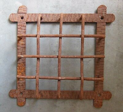 ANTIQUE FRENCH DOOR VIEWER SPEAK EASY GRILL N°1 Hardware architectural LARGE