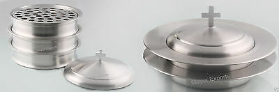 3 Communion Trays Set with Lid  2 Bread Plate with Lid- FREE SHIP RELIGIOUS EDH