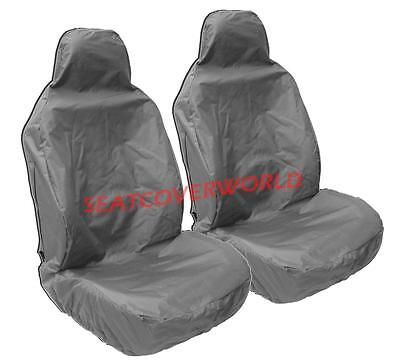 BMW X4 H. Duty Grey Waterproof Car Seat Covers/Protectors - 2 x Fronts