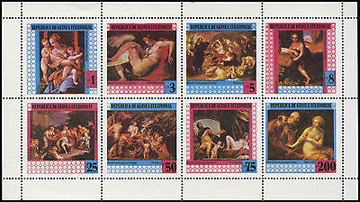Equatorial Guinea 1970's Paintings MNH Sheet #C29004