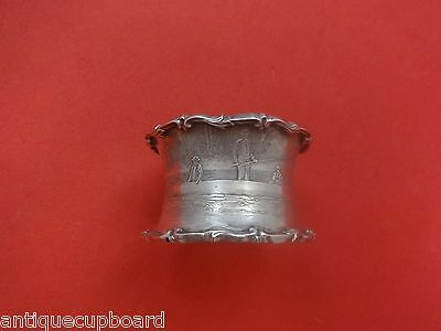 """Tiffany & Co. Sterling Silver Napkin Ring Engraved 1 1/2"""" X 2 3/8"""""""