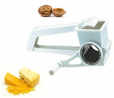 Grater Rotary Stainless Steel Drum Cheese Vegetable Gadget Kitchen Gartering New