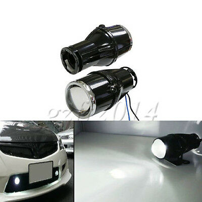 """Universal  For Any Car SUV Truck Bike 2.25"""" Projector Fog Light Lamps white"""