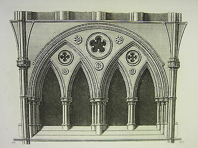 1795 Print Gothic Ornament York Minster ~ Arches West Side Of South Transept