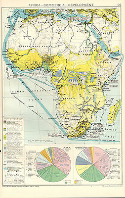 1928 Map ~ Africa Commercial Development Area & Population