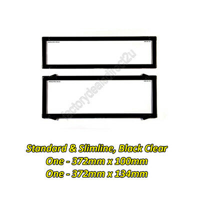 Number Plate Covers Slimline/Std Black Clear One Pair 6QSNL Lifetime Warranty