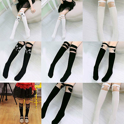 38cm Cute Baby Children Toddler Kids Girls Cotton Knee High Socks Leggings