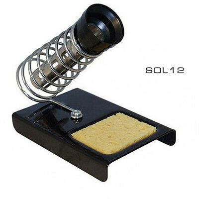 Heavy Duty Soldering Iron Metal Stand Tool with Safety Holder & Sponge