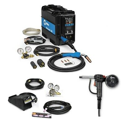 Miller Multimatic 200 Multiprocess Welder, TIG Kit, & Spoolgun (907518)