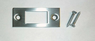 "Decorlux 2.75"" MBS-264 Mortise Bolt Door Strike Plate + Screws SATIN CHROME NEW!"
