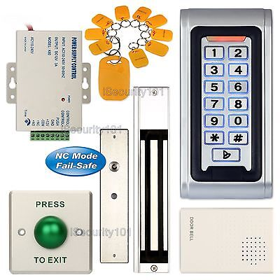 Waterproof Access Control Keypad Door Entry RFID System + 280KG Magnetic Lock