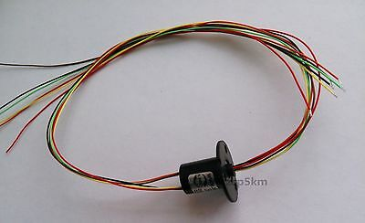 Comidox 12.5mm 300Rpm 6 Wires CIRCUITSx2A Capsule Electrical Slip Ring for Mo...