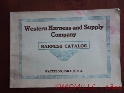 1913 Western Harness and Supply Company Catalog Saddles Waterloo Iowa Antique