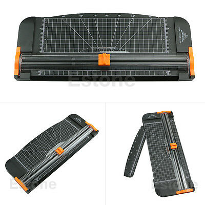 Jielisi 909-5 A4 Guillotine Ruler Paper Cutter Trimmer Cutter Black-Orange