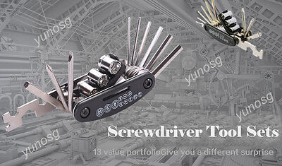 15in1 Bicycle Repair Screwdriver Tool Sets Multi Allen Hex Wrench Spoke Wrench Y