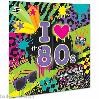 Totally 80's Disco Themed Birthday Party Scene Setter Wall Decorating Kit