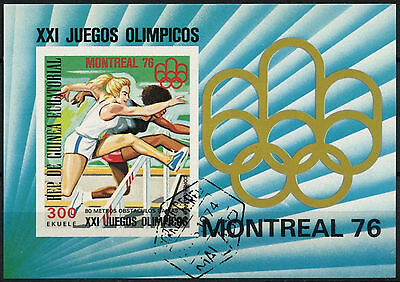 Equatorial Guinea 1976 Olympic Games  Cto Used Imperf M/S #A92715