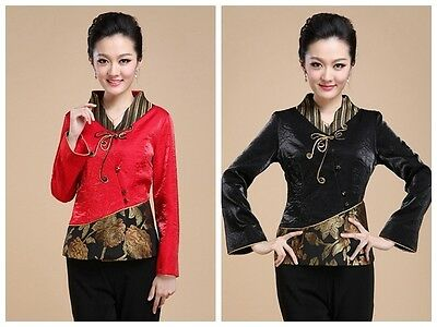 Women Outerwear Jackets Chinese Traditional Style Fashion Coat M L XL XXL