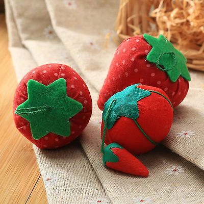 Cute Tomato Strawberry Pin Cushion Sewing Needles Holder Kit DIY Craft Accessory