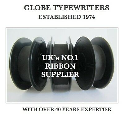 3 x 'IMPERIAL LITTON 203' *BLACK* TOP QUALITY *10M* TYPEWRITER  RIBBONS+EYELETS