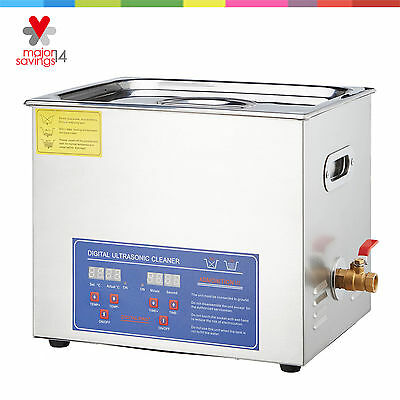 New 15L Liter Ultrasonic Cleaner Stainless Steel  Industry Heater w/ Timer