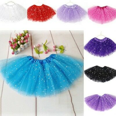 New Sweet Tutu Skirt Girls Kids Party Ballet Dance Wear Dress Pettiskirt Clothes