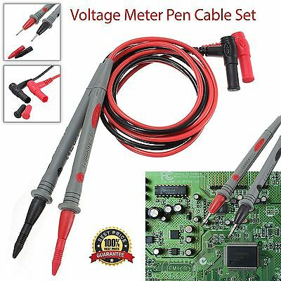 1 Pair Universal Probe Test Leads Cable For Digital Multimeter 1000V 20A UK Shop