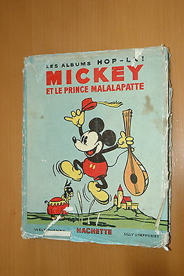 Mickey Et Le Prince Malalapatte 1935 Rare French Pop-Up Book Disney Disneyana